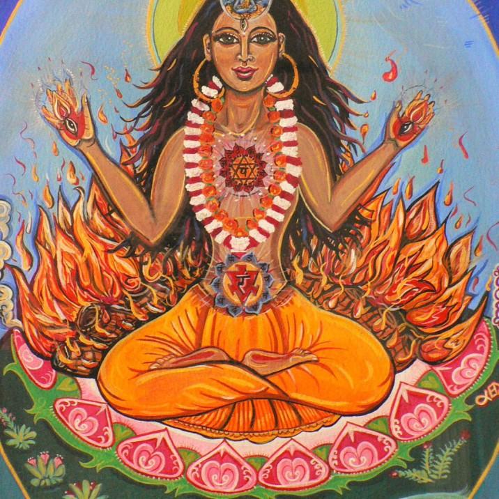 Sati's yogic fire