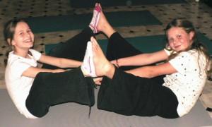 Sammy doing yoga