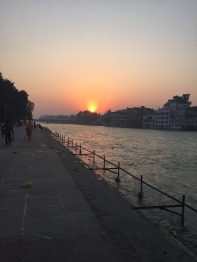 sunset haridwar