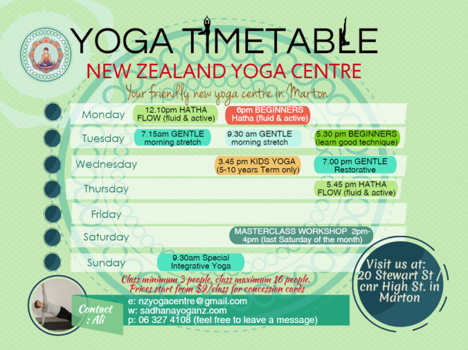 NEW Spring Timetable