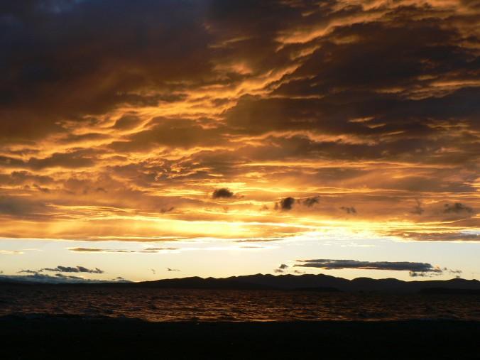 sunset over Manasarova